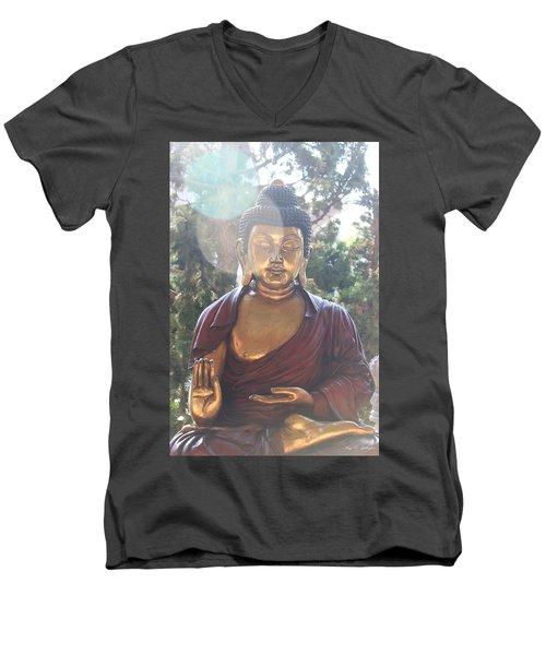The Mystical Golden Buddha Men's V-Neck T-Shirt