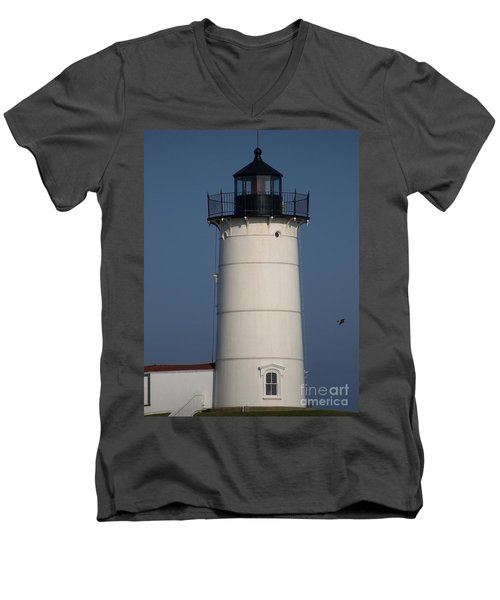Men's V-Neck T-Shirt featuring the photograph Lighthouse by Eunice Miller