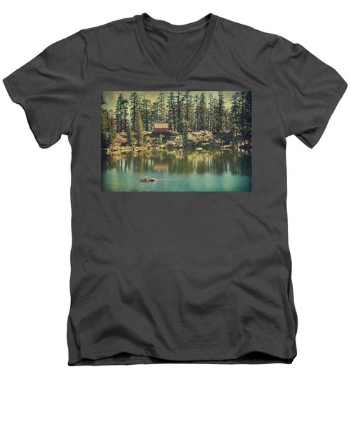 The Old Days By The Lake Men's V-Neck T-Shirt