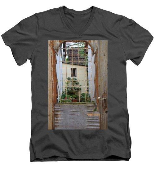 Memories Made Beyond This Old Door Men's V-Neck T-Shirt