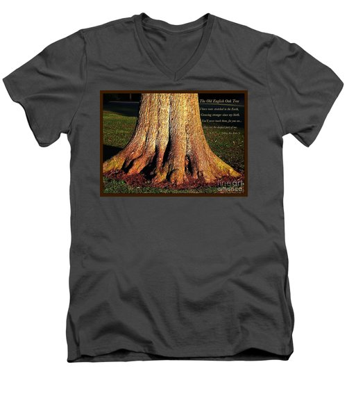 The Old English Oak Tree Men's V-Neck T-Shirt