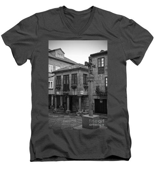 The Old Firewood Marketplace Bw Men's V-Neck T-Shirt