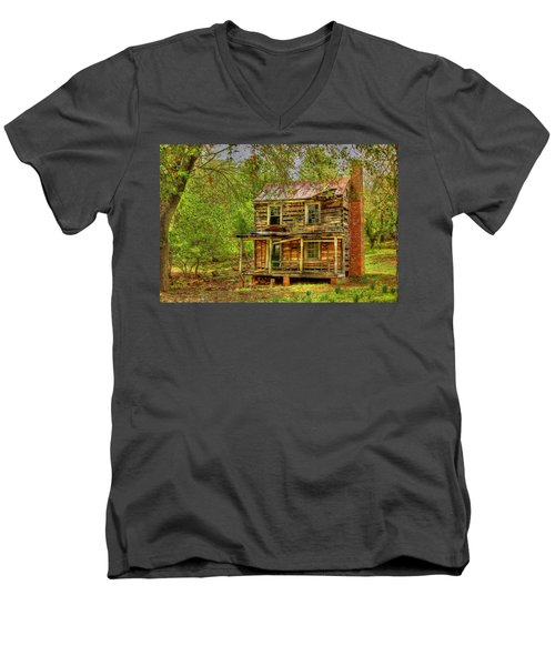 The Old Home Place Men's V-Neck T-Shirt by Dan Stone