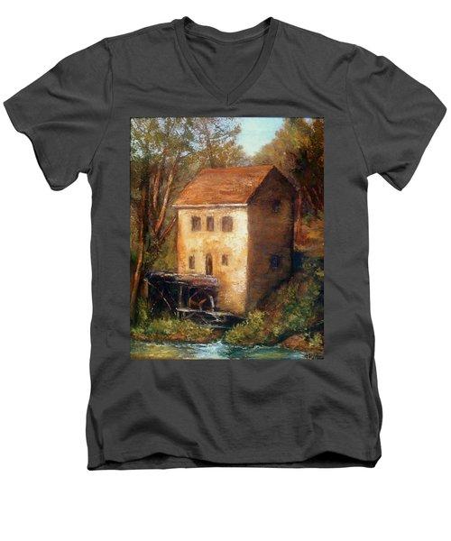 The Old Mill Men's V-Neck T-Shirt by Gail Kirtz