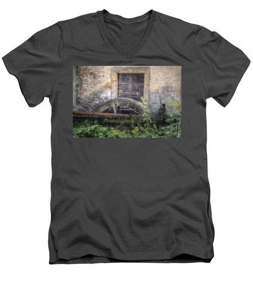 The Old Mill Men's V-Neck T-Shirt by Michelle Meenawong