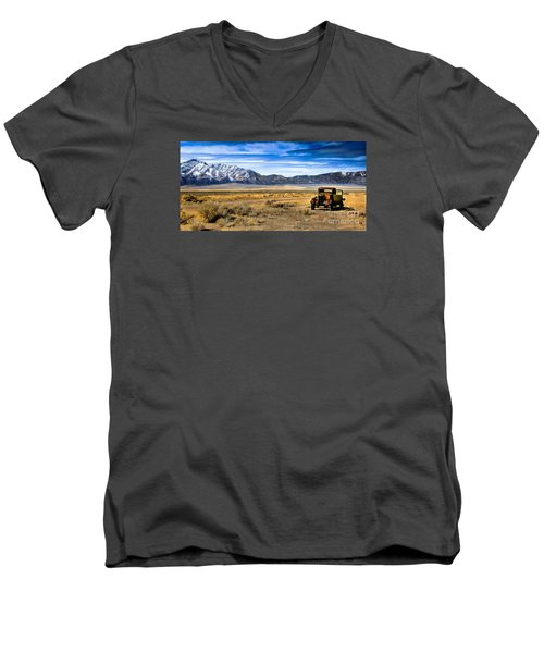 The Old One Men's V-Neck T-Shirt by Robert Bales