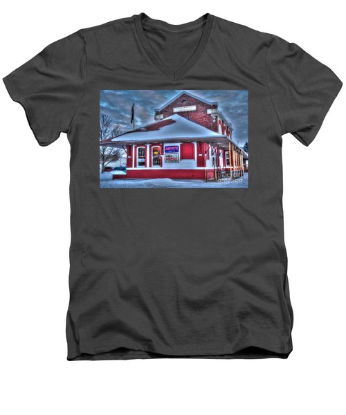 The Old Train Station Men's V-Neck T-Shirt