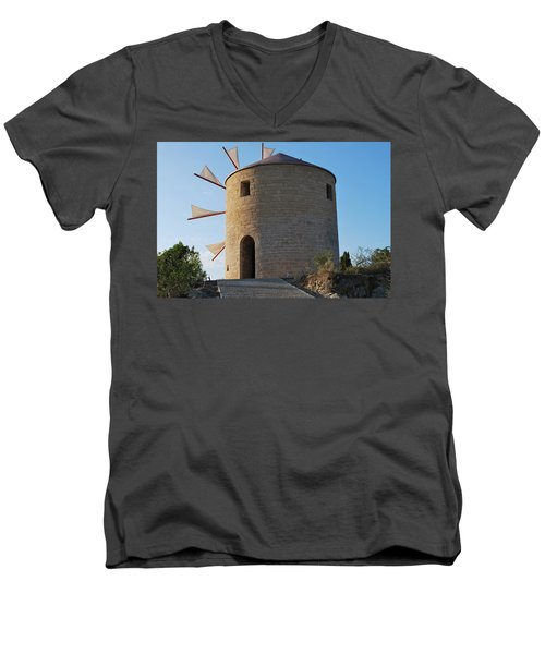 The Old Windmill 1830 Men's V-Neck T-Shirt