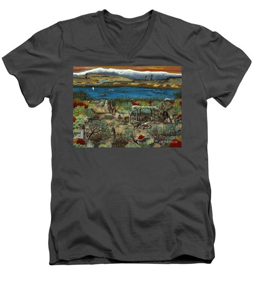 The Oregon Paiute Men's V-Neck T-Shirt