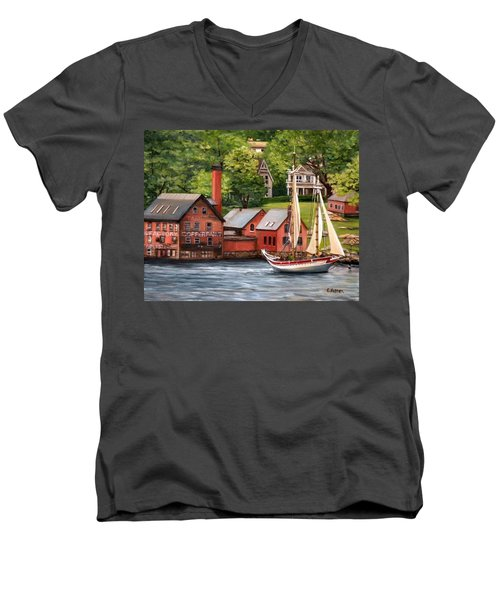 The Paint Factory And The Ardelle Men's V-Neck T-Shirt by Eileen Patten Oliver