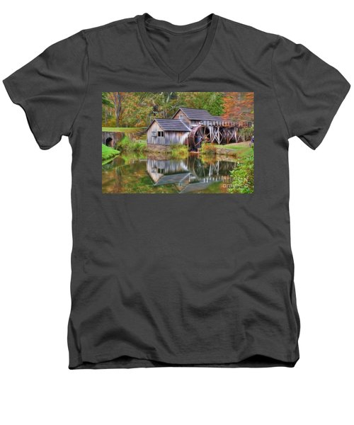 The Painted Mill Men's V-Neck T-Shirt