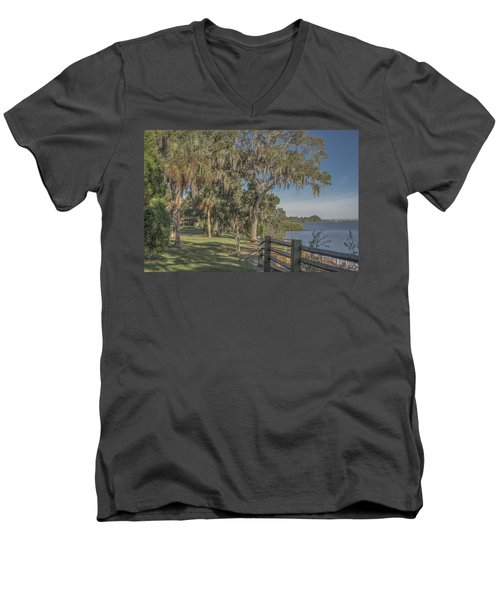 Men's V-Neck T-Shirt featuring the photograph The Park by Jane Luxton