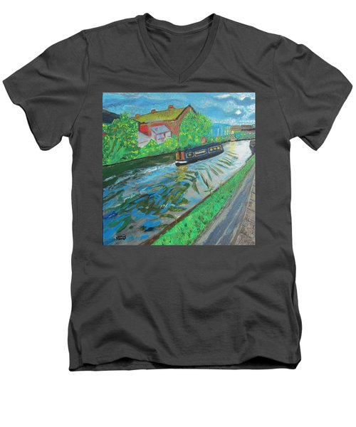 The Pickle - Grand Union Canal Men's V-Neck T-Shirt by Mudiama Kammoh
