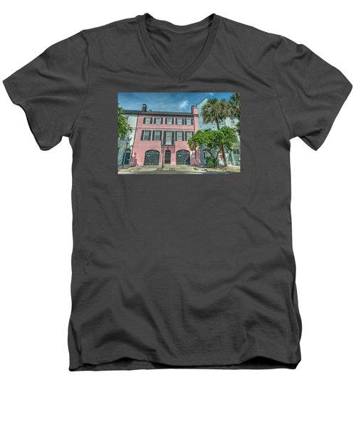 The Pink House Men's V-Neck T-Shirt