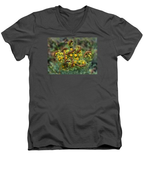 Men's V-Neck T-Shirt featuring the photograph The Plague by Dreamland Media