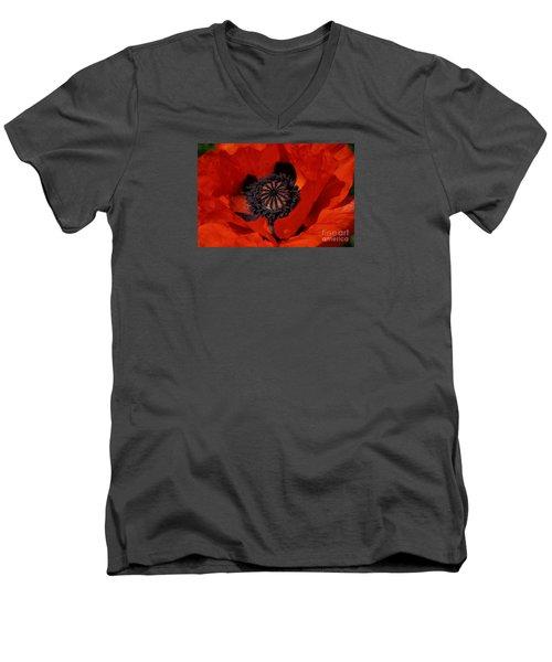The Poppy Is Also A Flower Men's V-Neck T-Shirt