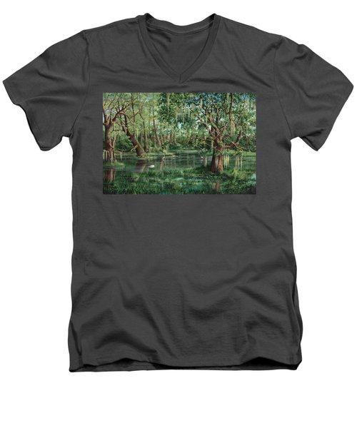 The Preacher And His Flock Men's V-Neck T-Shirt