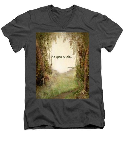 The Princess Bride - As You Wish Men's V-Neck T-Shirt by Paulette B Wright