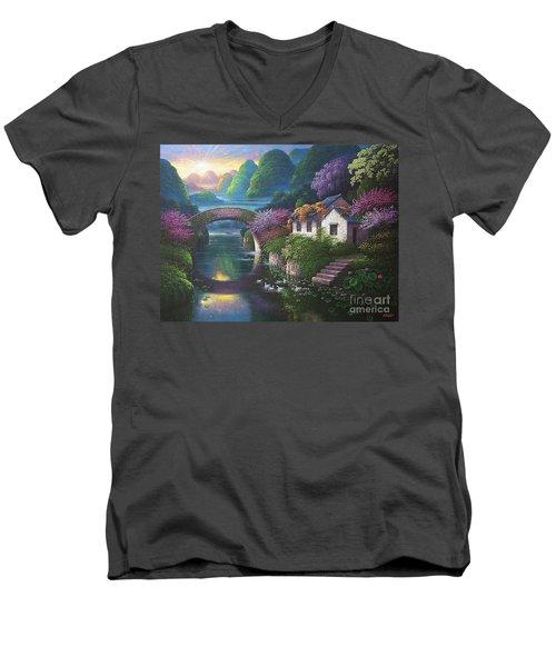 The Promise Of Spring Men's V-Neck T-Shirt