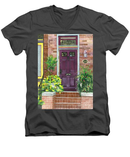 The Purple Door Men's V-Neck T-Shirt
