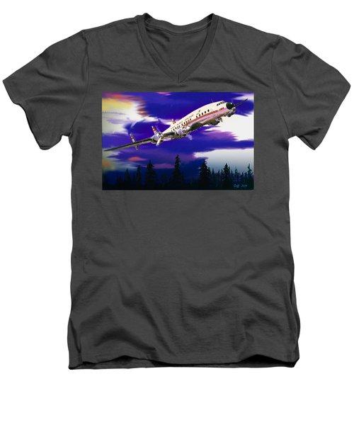 The Queen Of The Fleet Leaving Seattle Men's V-Neck T-Shirt
