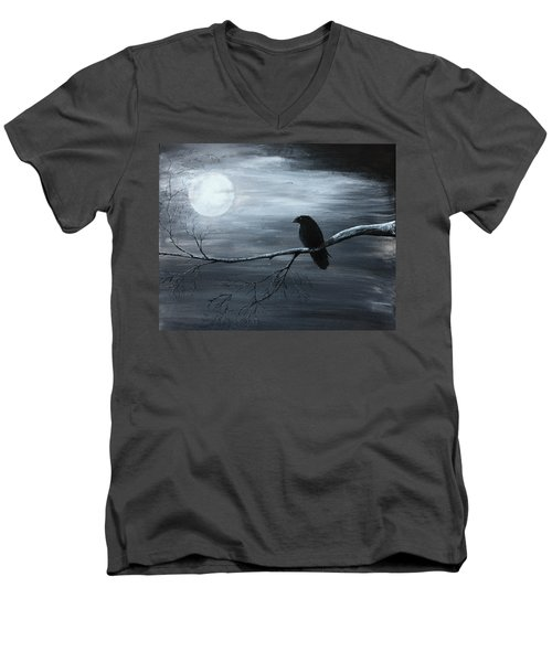 The Raven Piece 2 Of 2 Men's V-Neck T-Shirt by Gray  Artus