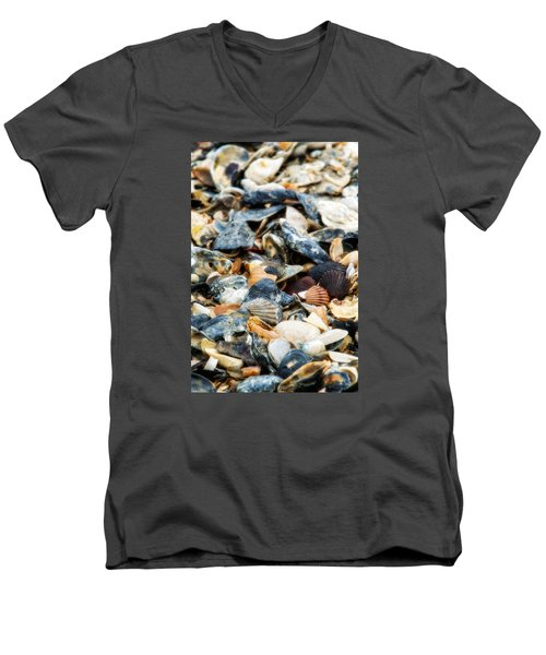 Men's V-Neck T-Shirt featuring the photograph The Raw Bar by Joan Davis