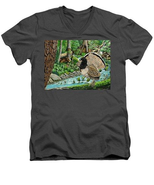 The Real Thunder Bird  Men's V-Neck T-Shirt
