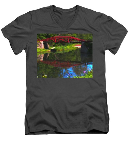 The Red Bridge Men's V-Neck T-Shirt