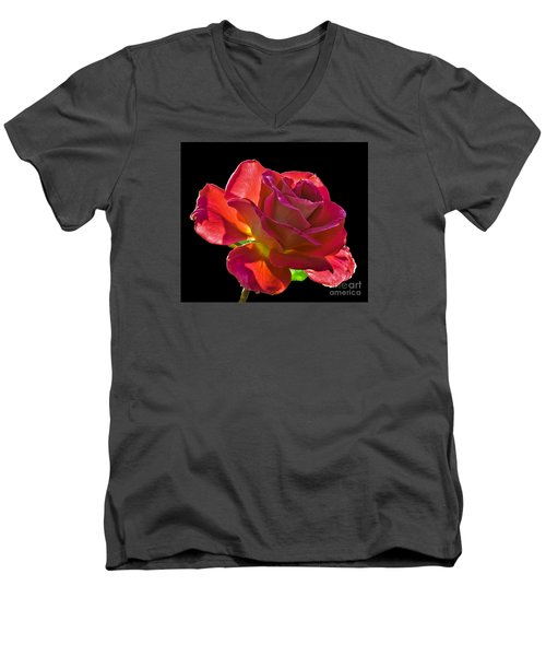 The Red One Men's V-Neck T-Shirt by Robert Bales