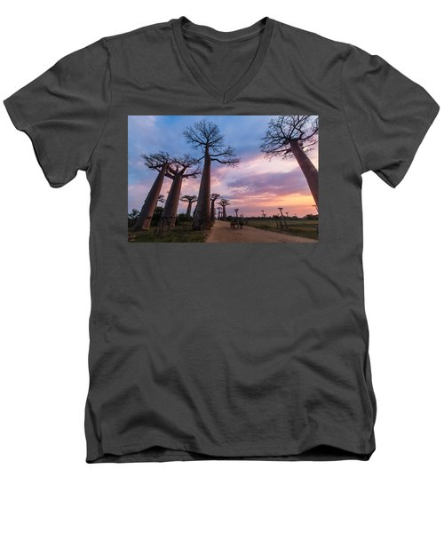 The Road To Morondava Men's V-Neck T-Shirt