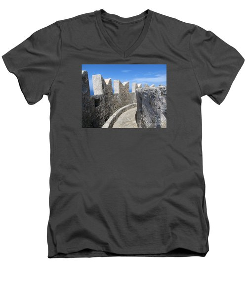 Men's V-Neck T-Shirt featuring the photograph The Rocks And The Path by Ramona Matei