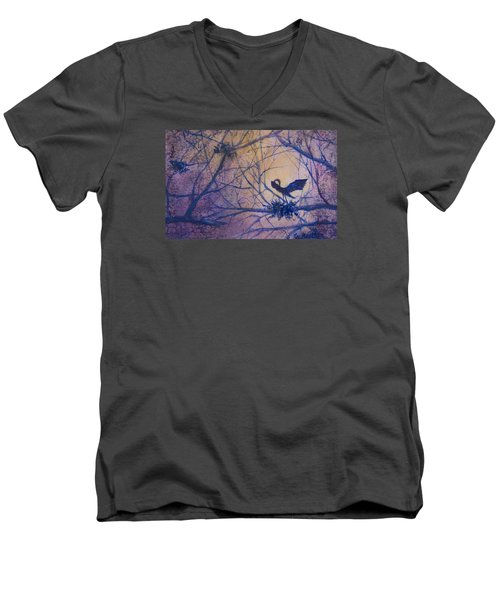 The Rookery Revisited Men's V-Neck T-Shirt by Lee Beuther