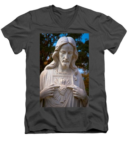 The Sacred Heart Men's V-Neck T-Shirt