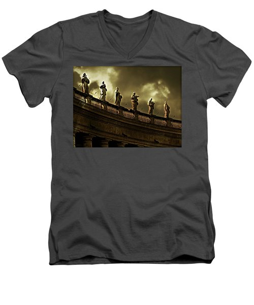 Men's V-Neck T-Shirt featuring the photograph The Saints  by Micki Findlay