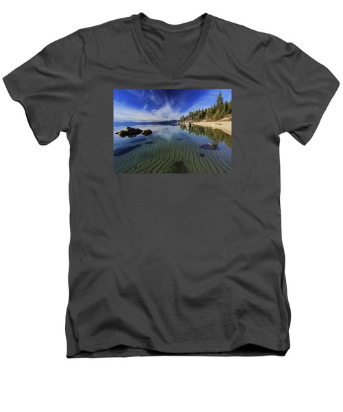 Men's V-Neck T-Shirt featuring the photograph The Sands Of Time by Sean Sarsfield