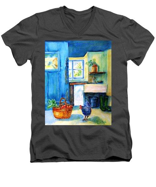 The Scullery  Men's V-Neck T-Shirt by Trudi Doyle
