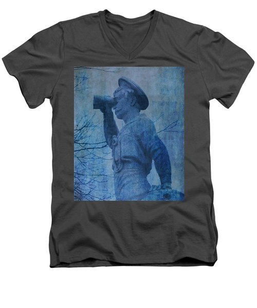 The Seaman In Blue Men's V-Neck T-Shirt