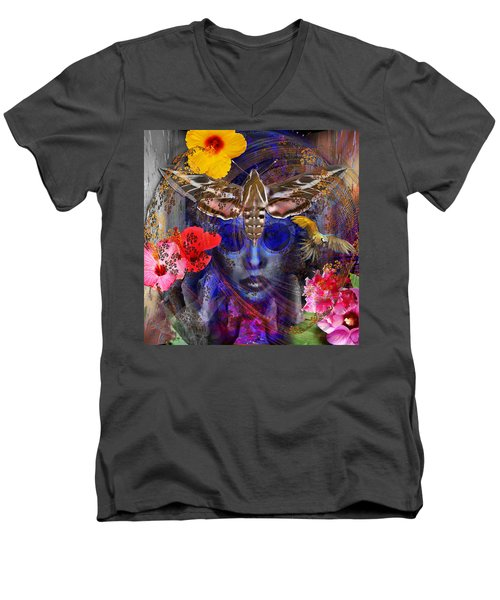 The Search For Hibiscus Life Men's V-Neck T-Shirt by Joseph Mosley