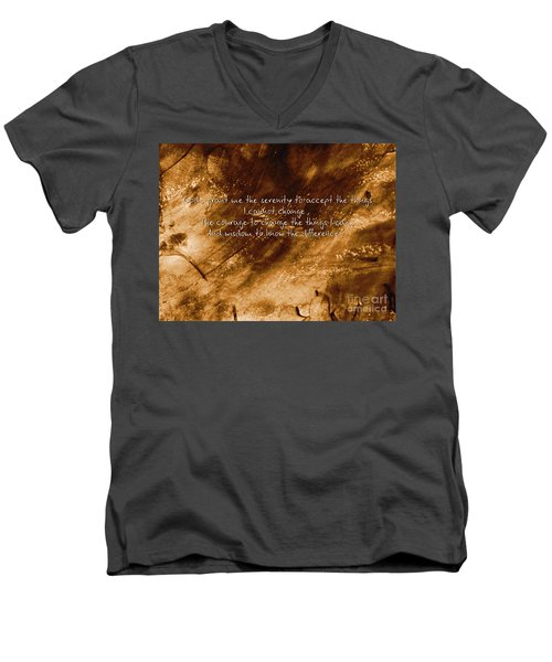 The Serenity Prayer 1 Men's V-Neck T-Shirt
