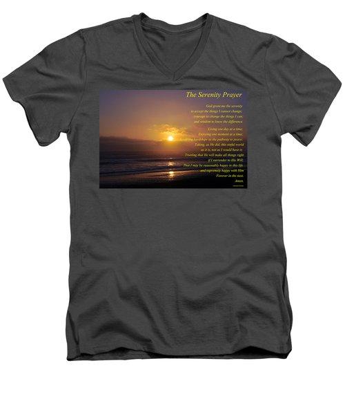 The Serenity Prayer Men's V-Neck T-Shirt by Tikvah's Hope