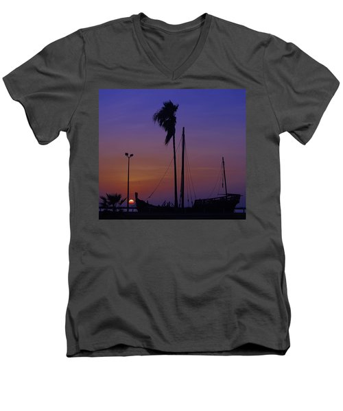 Men's V-Neck T-Shirt featuring the photograph The Ship by Leticia Latocki