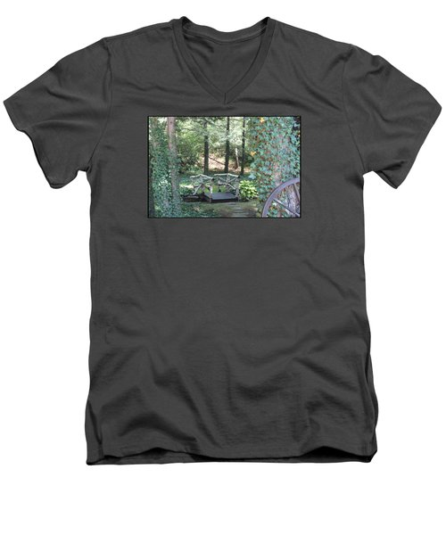 Men's V-Neck T-Shirt featuring the photograph The Path by Debra     Vatalaro