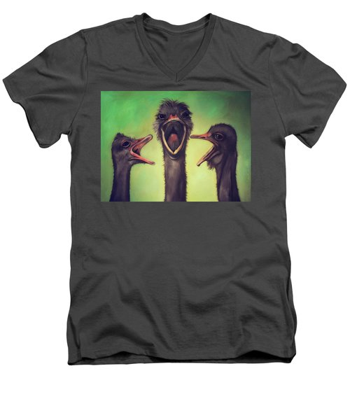 The Singers Men's V-Neck T-Shirt by Leah Saulnier The Painting Maniac