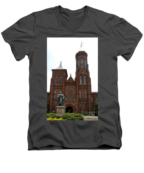 The Smithsonian - Washington Dc Men's V-Neck T-Shirt by Christiane Schulze Art And Photography