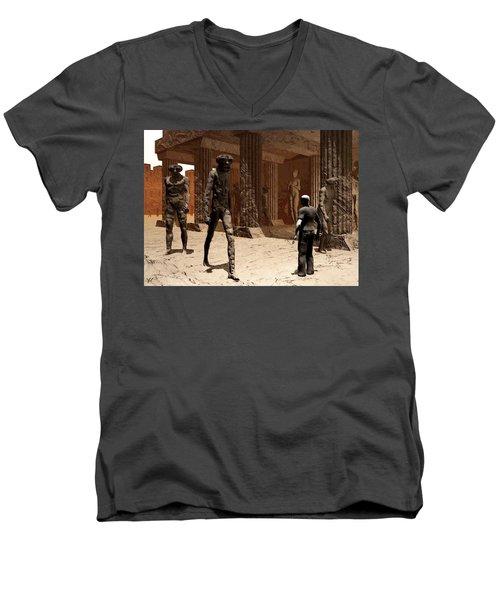 The Somnambulist In The Underworld Men's V-Neck T-Shirt