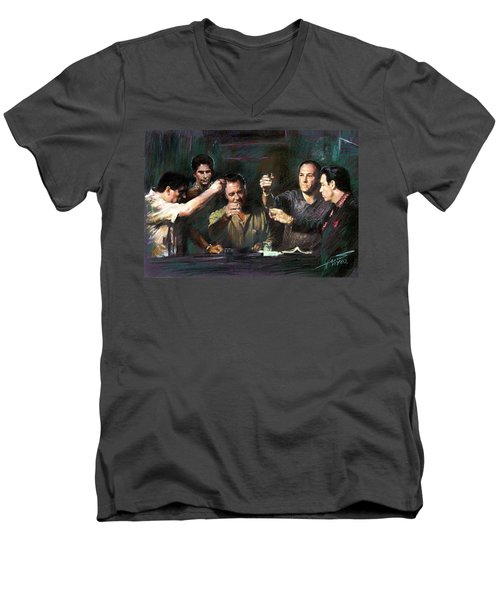 The Sopranos Men's V-Neck T-Shirt