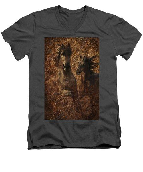 The Spirit Of Black Sterling Men's V-Neck T-Shirt by Melinda Hughes-Berland