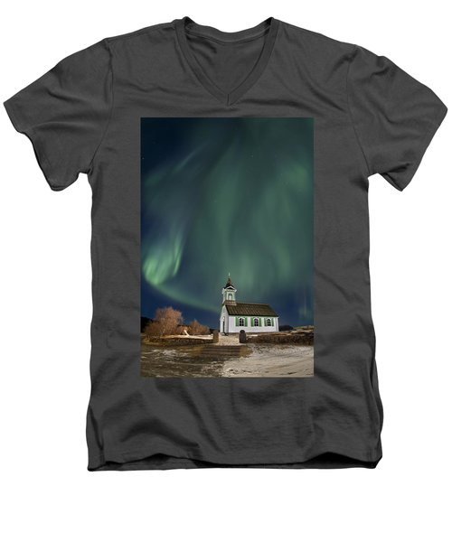 The Spirit Of Iceland Men's V-Neck T-Shirt