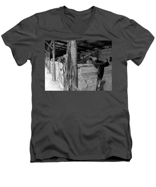 Men's V-Neck T-Shirt featuring the photograph Very Stable by Natalie Ortiz